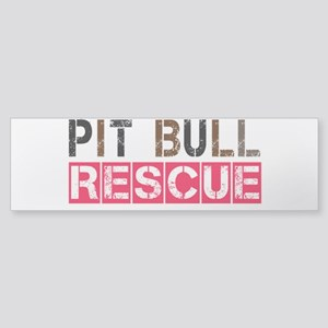 Pit Bull Rescue Bumper Sticker