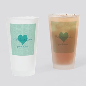 Cute Sweet Mint Heart Drinking Glass