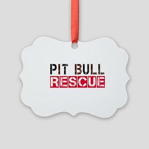 Pit Bull Rescue Picture Ornament