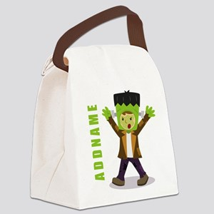 Halloween Green Goblin Personaliz Canvas Lunch Bag