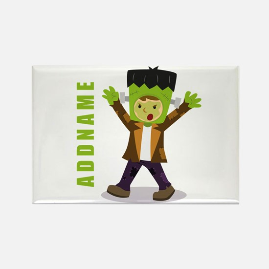 Halloween Green Goblin Personaliz Rectangle Magnet