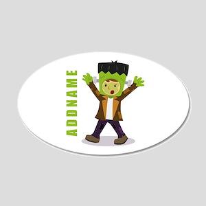 Halloween Green Goblin Perso 20x12 Oval Wall Decal