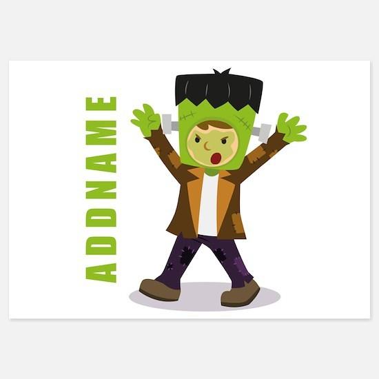 Halloween Green Goblin Personalized Invitations