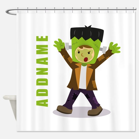 Halloween Green Goblin Personalized Shower Curtain