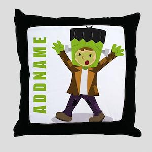 Halloween Green Goblin Personalized Throw Pillow