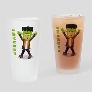 Halloween Green Goblin Personalized Drinking Glass