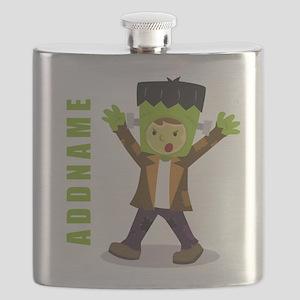 Halloween Green Goblin Personalized Flask