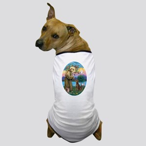 StFrancis-ChocLAB1 Dog T-Shirt
