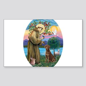StFrancis-ChocLAB1 Sticker (Rectangle)