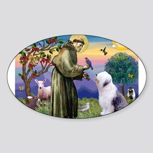 ST. FRANCIS + OES Sticker (Oval 50 pk)