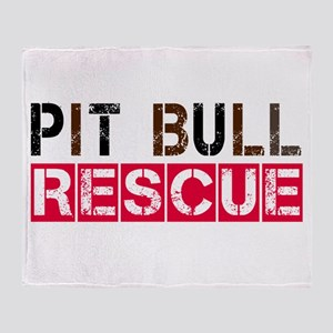 Pit Bull Rescue Throw Blanket