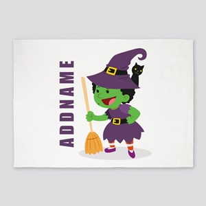 Personalized Halloween 5'x7'Area Rug