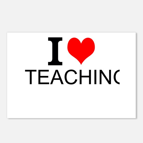 I Love Teaching Postcards (Package of 8)