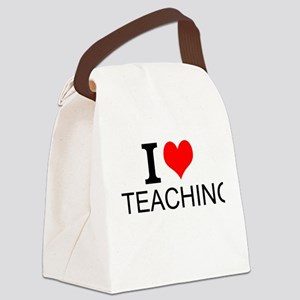 I Love Teaching Canvas Lunch Bag
