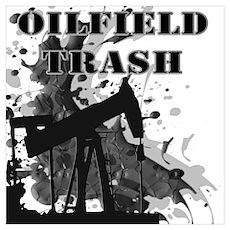 Oilfield Oil Splash Poster