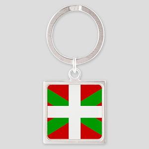 Basque Flag Square Keychain
