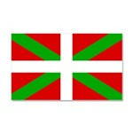 Basque Flag Car Magnet 20 x 12