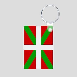 Basque Flag Aluminum Photo Keychain