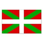 Basque Flag Sticker (Rectangle 50 pk)
