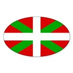 Basque Flag Sticker (Oval 50 pk)