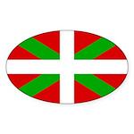 Basque Flag Sticker (Oval 10 pk)