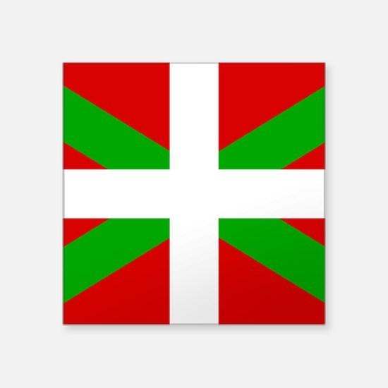 """Basque Flag Square Sticker 3"""" x 3"""""""