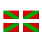 Basque Flag 35x21 Wall Decal