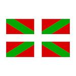 Basque Flag 35x21 Wall Decal
