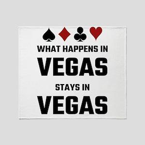 What Happens In Vegas Stays In Vegas Throw Blanket