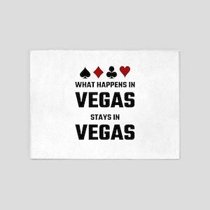 What Happens In Vegas Stays In Vega 5'x7'Area Rug