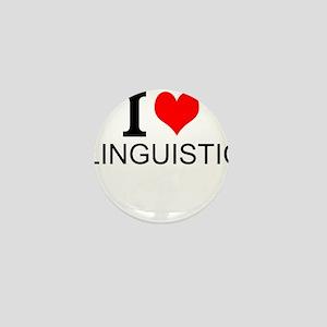 I Love Linguistics Mini Button