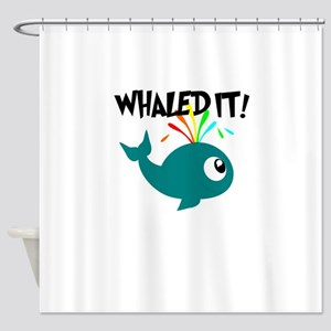 Whaled It! Shower Curtain