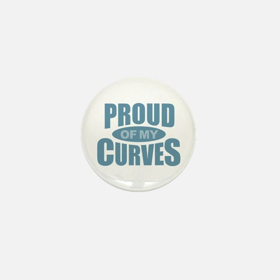 Proud of My Curves - Blue Mini Button