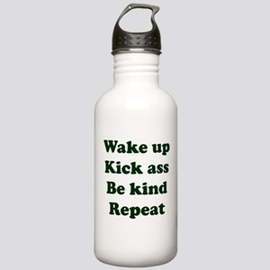 Wake Up Kick Ass Be Ki Stainless Water Bottle 1.0L