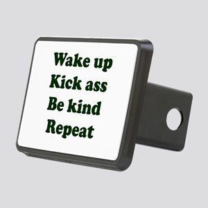 Wake Up Kick Ass Be Kind R Rectangular Hitch Cover