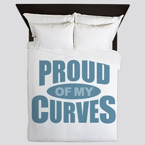 Proud of My Curves - Blue Queen Duvet