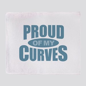 Proud of My Curves - Blue Throw Blanket