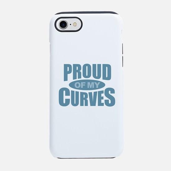 Proud of My Curves - Blue iPhone 8/7 Tough Case