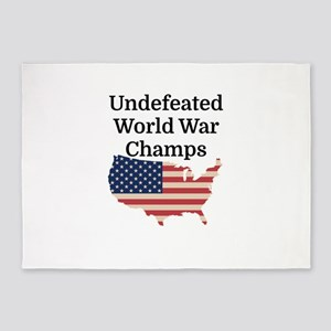 Undefeated World War Champs 5'x7'Area Rug