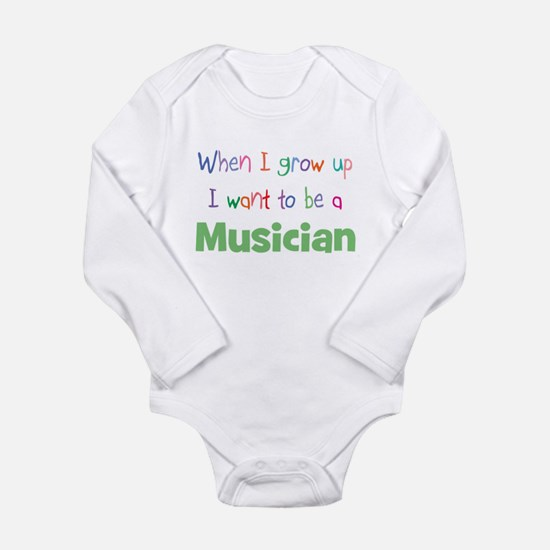 Unique Baby%27s future career Long Sleeve Infant Bodysuit