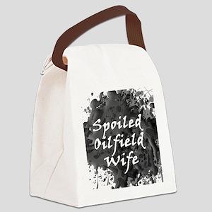 Spoiled Oilfield Wife Oil Splash Canvas Lunch Bag