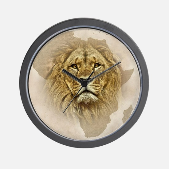 Unique African lion Wall Clock