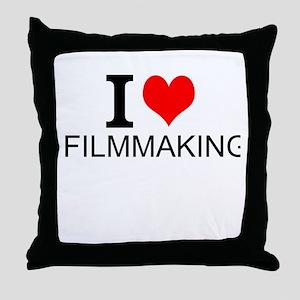 I Love Filmmaking Throw Pillow