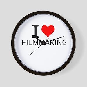 I Love Filmmaking Wall Clock