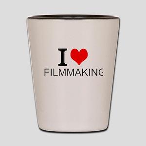 I Love Filmmaking Shot Glass