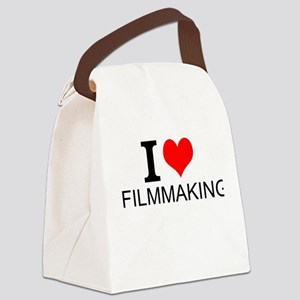 I Love Filmmaking Canvas Lunch Bag