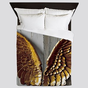 Gold Angel Wings W Queen Duvet