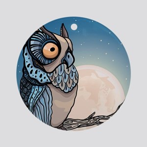 Night Owl Round Ornament