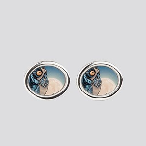 Night Owl Oval Cufflinks