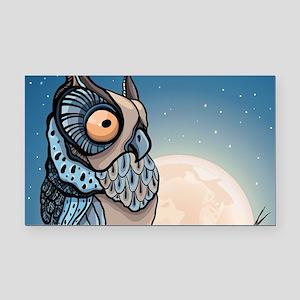 Night Owl Rectangle Car Magnet